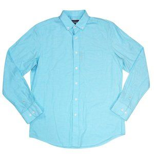 Club Room Men's Button Down Shirt L NWT Aqua Reef